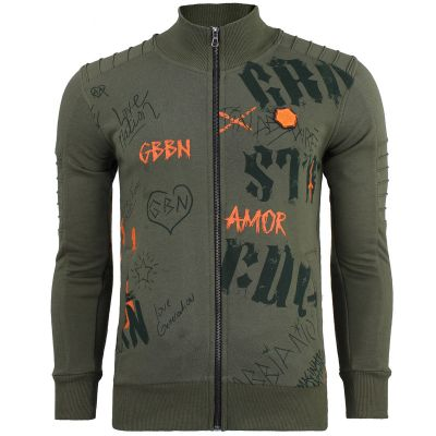 Chaos-and-Order Sweatvest