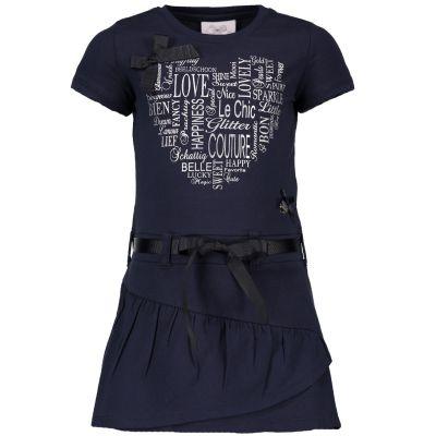 1d2f1dd0cc821a Le Chic Jurk blauw - kleertjes.com