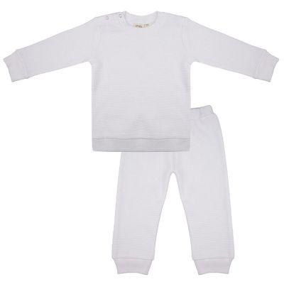 Merkloos Little Indians Pyjama Cloud Dancer Junior Katoen Wit Mt 12-18 Maanden online kopen