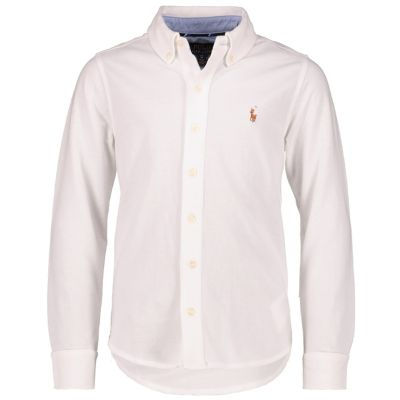 03dfeebaa158 Polo Ralph Lauren Overhemd wit - kleertjes.com