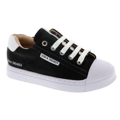 Shoesme SH21S001-G leren sneakers zwart online kopen