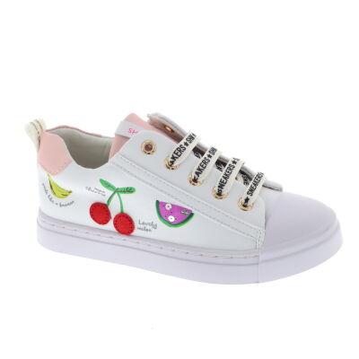 Shoesme SH21S002-F leren sneakers wit/multi online kopen