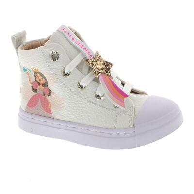 Shoesme SH21S006-E leren sneakers met princes wit online kopen
