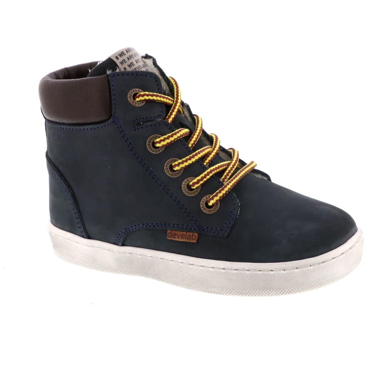 Develab 41855 hoge nubuck sneakers donkerblauw online kopen