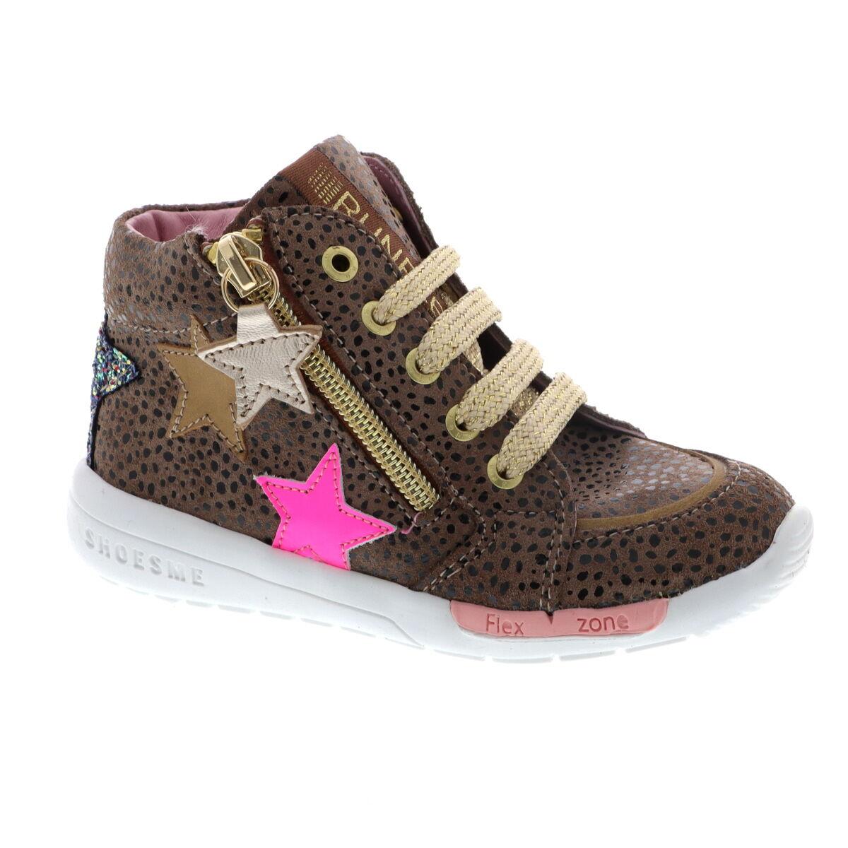 Shoesme RF21W040-B leren veterschoenen taupe/multi online kopen