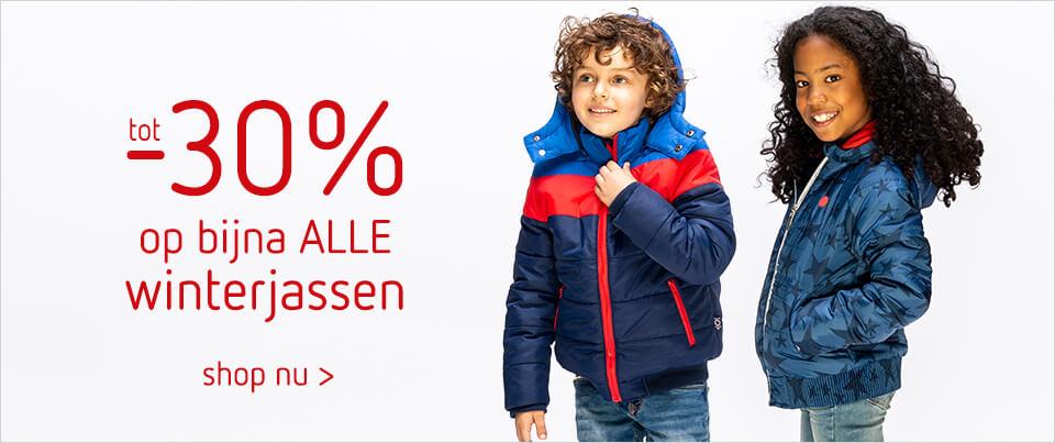 tot 30% korting op alle winterjassen voor kinderen bij kleertjes.com