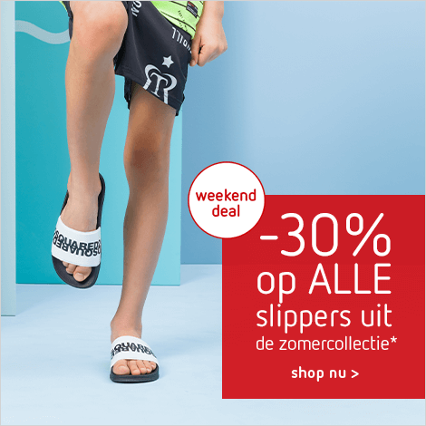 -30% op ALLE slippers uit de zomercollectie*
