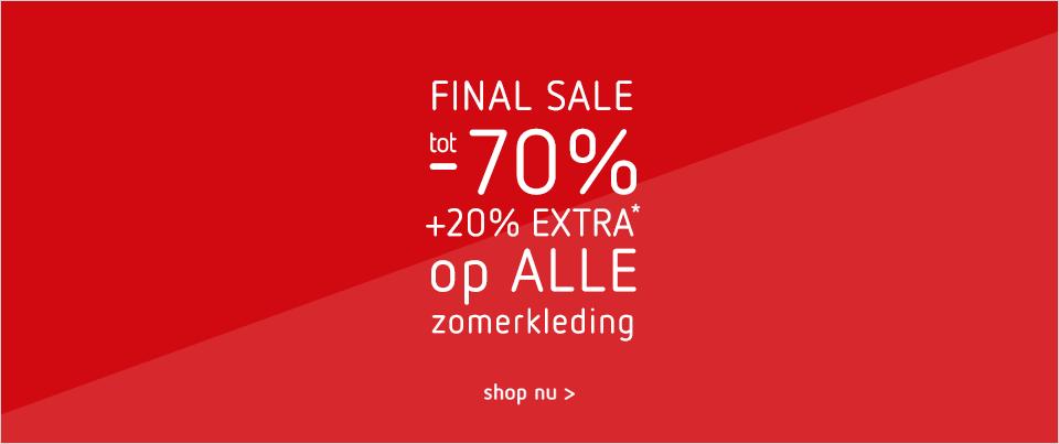 Final Sale: tot -70% +20% extra op alle zomerkleding bij Kleertjes_com