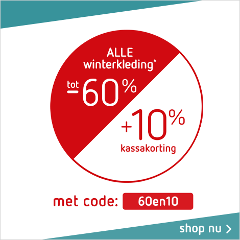 Sale tot -60% + 10% op winterkleding