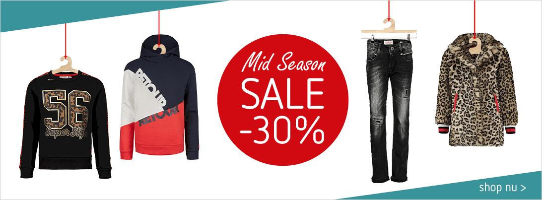Mid season sale 30% korting bij Kleertjes_com