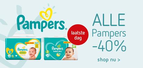 Alle Pampers -40% - laatste dag