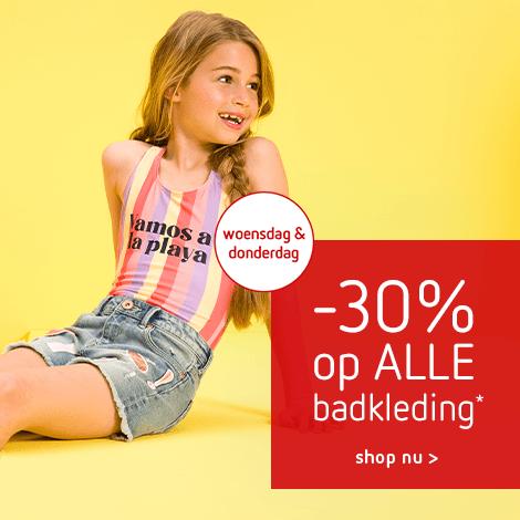 2 dagen deal -30% op ALLE* badkleding