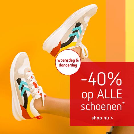2 dagen deal: -40% op ALLE* schoenen