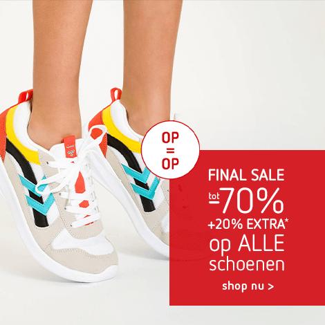 Final Sale: tot -70% + 20% extra op ALLE schoenen*