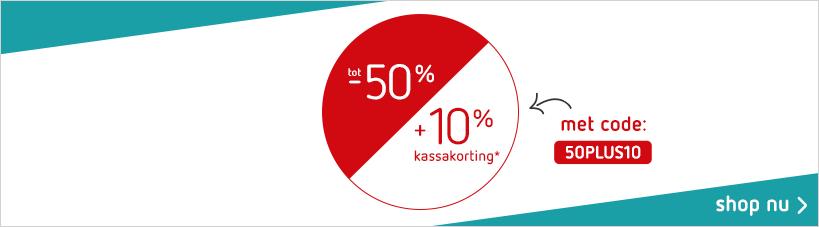 50% + 10% korting op de sale