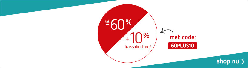 Sale tot 60% + 10% kassakorting (16-07)