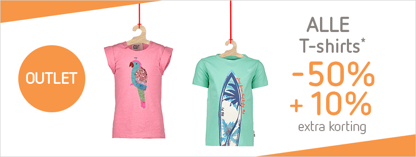 Zomeroutlet t-shirts -50% +10%