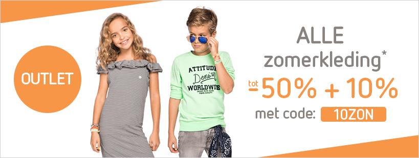 Zomeroutlet -50% + 10%