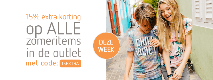27-05 outlet - DEZE WEEK: 15% extra korting op ALLE zomeritems in de Outlet