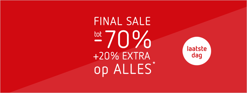 09-08 FINAL SALE: tot - 70% + 20% EXTRA - laatste dag