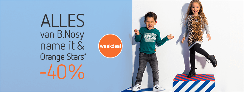 01-10 - outlet - Weekdeal: -40% op name it, B.Nosy en Orange Stars