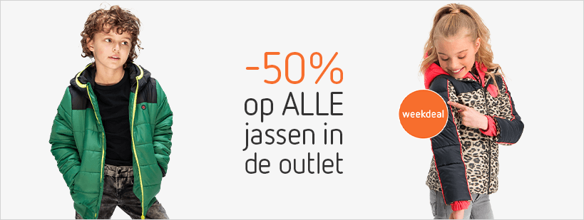29-10 - outlet - -50% op ALLE jassen in de Outlet