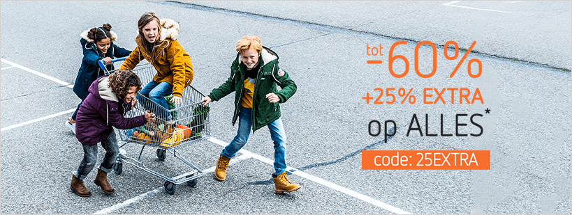 23-11 - outlet - tot -60% plus 25% op alles